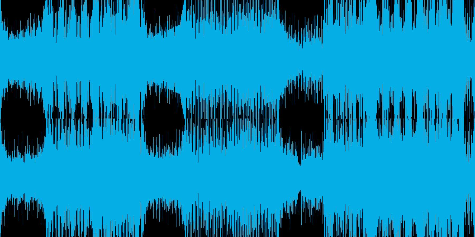 【ループ】緊迫感のある高速オーケストラの再生済みの波形