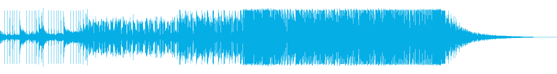 オープニングに適した約1分間作品の再生済みの波形