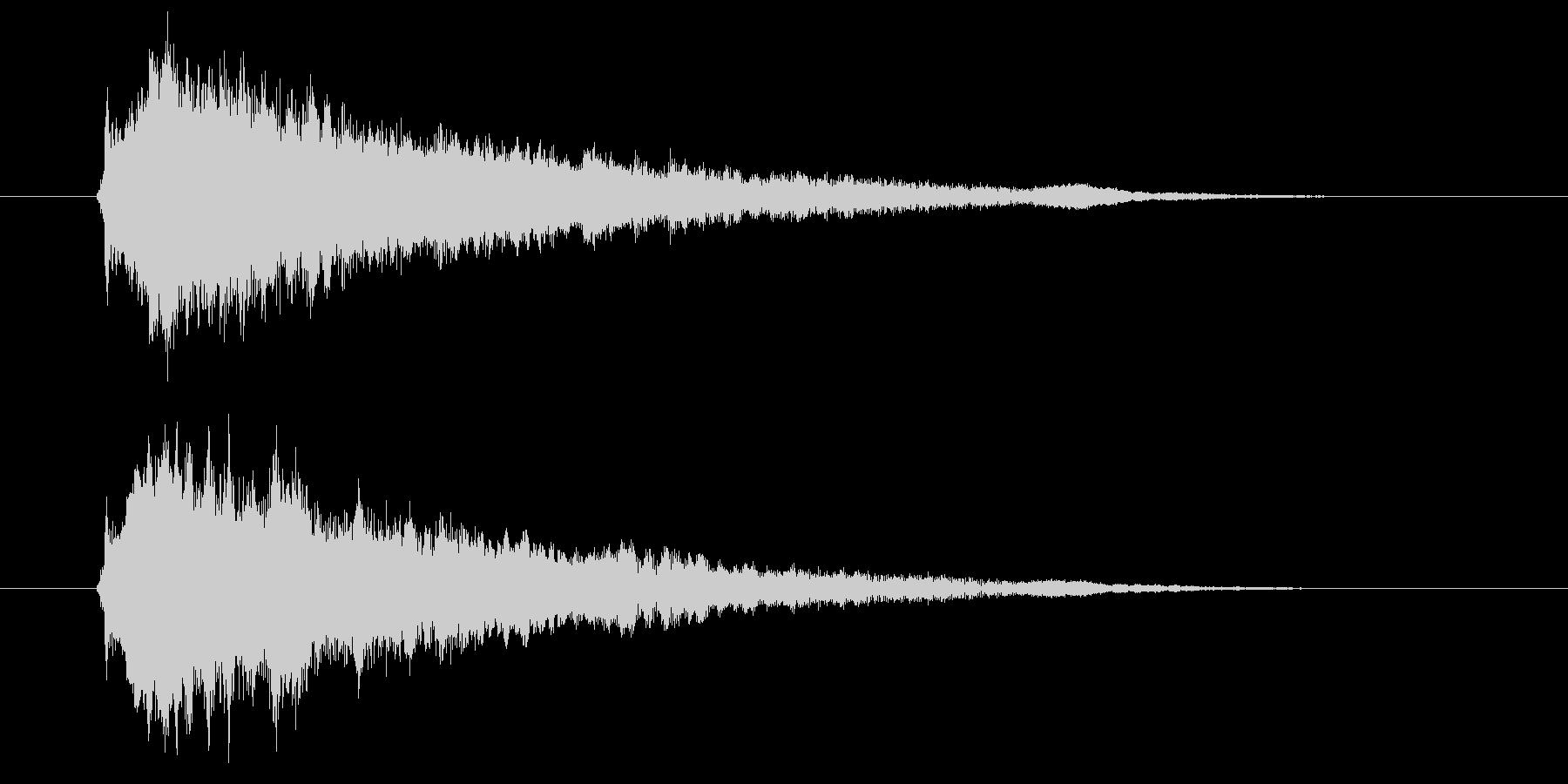 ゲームセレクト音などに使える近未来的SEの未再生の波形