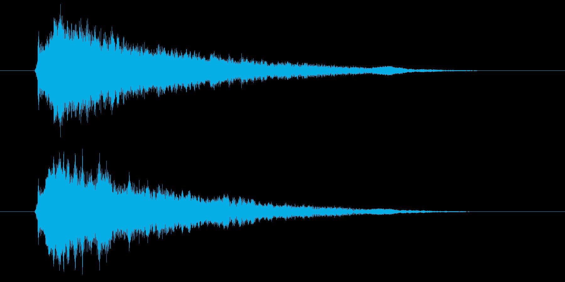 ゲームセレクト音などに使える近未来的SEの再生済みの波形