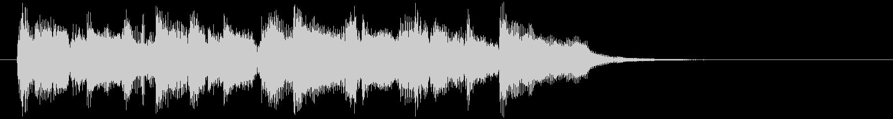 軽快なサックスのジャズファンク系ジングルの未再生の波形