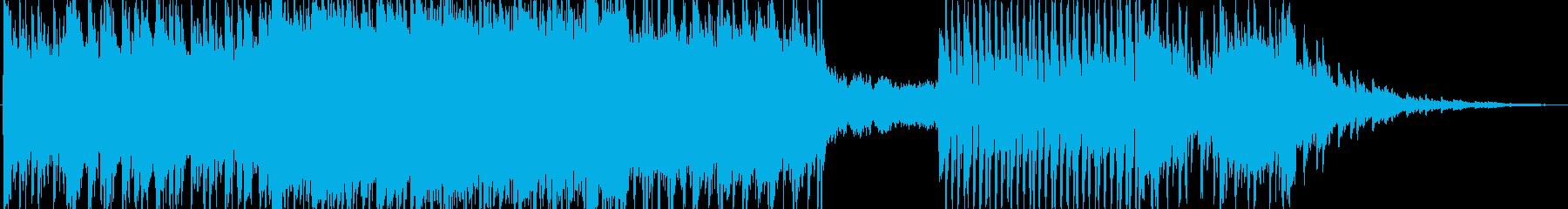 ギター生演奏ダークなポストロック風の再生済みの波形
