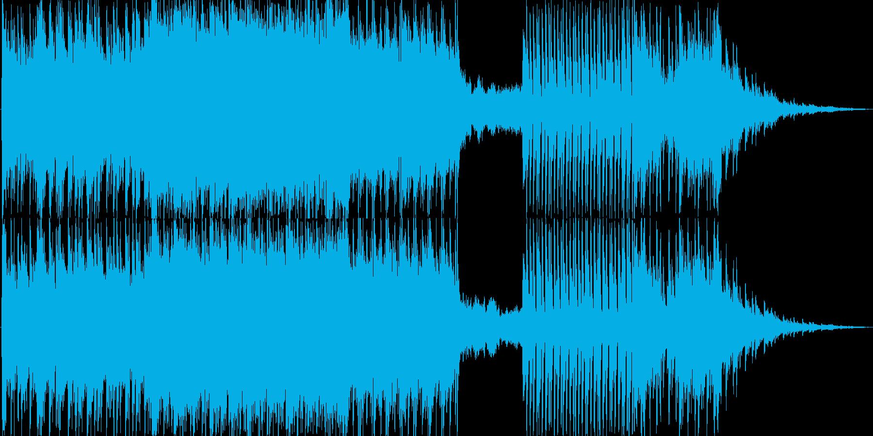 スローテンポ少しダークなポストロック風の再生済みの波形
