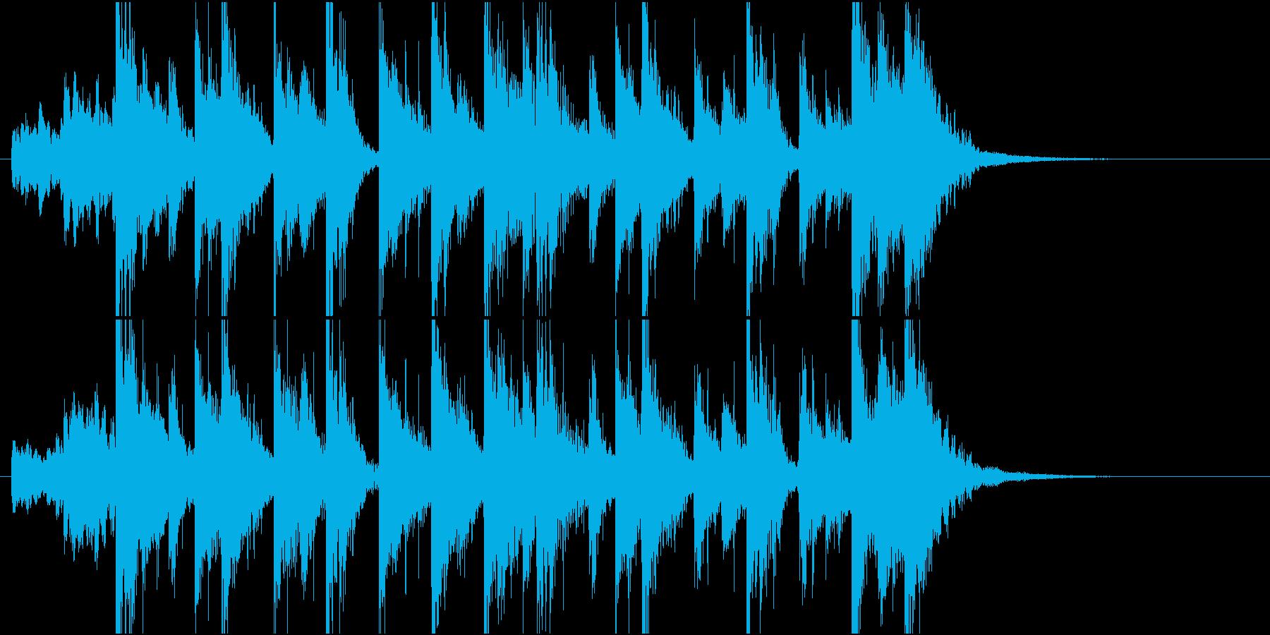 クールキャラ登場ジングルの再生済みの波形