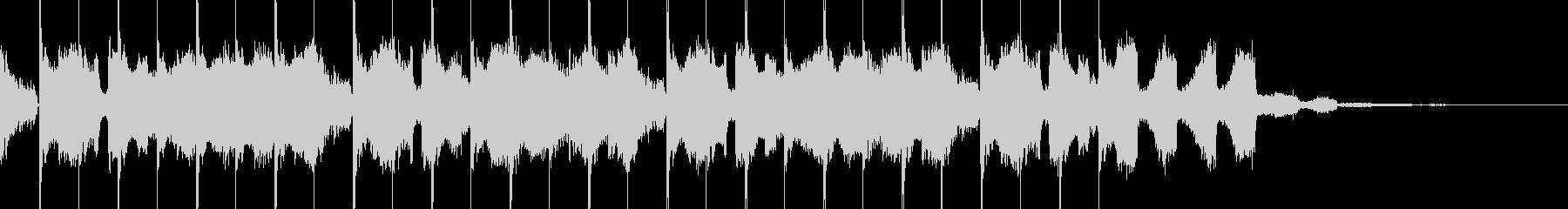 EDM・近未来的オープニングCMジングルの未再生の波形