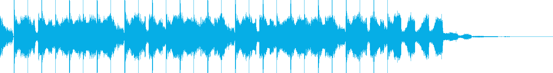 EDM・近未来的オープニングCMジングルの再生済みの波形