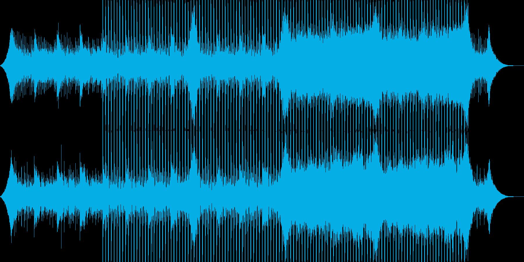 企業VP系23、爽やかギター4つ打ち2bの再生済みの波形