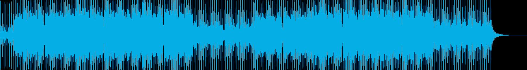 ピアノ ストリング シンセ 爽やかBGMの再生済みの波形