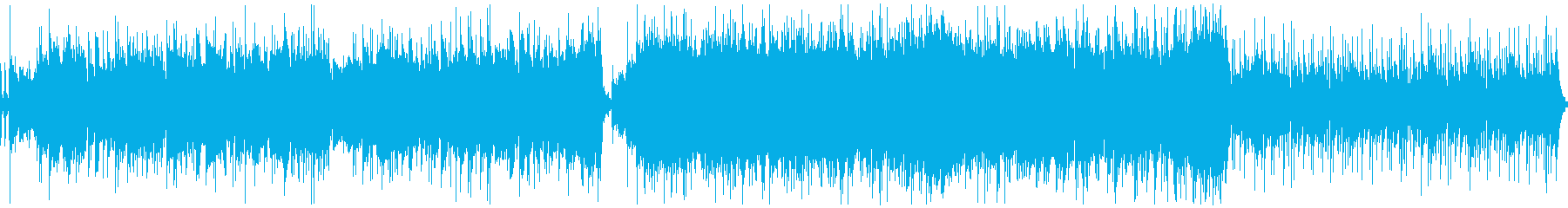 【ループ】情熱大陸のようなBGMの再生済みの波形