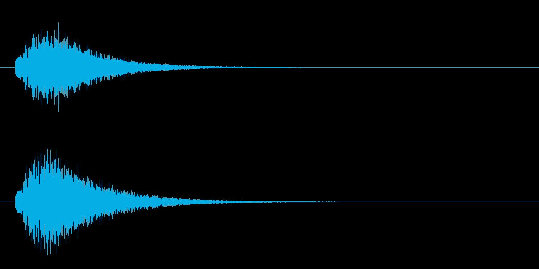 キラキラと魔法をかけるような音の再生済みの波形