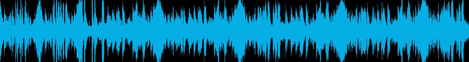 13秒でサビ、おだやか/静めループの再生済みの波形