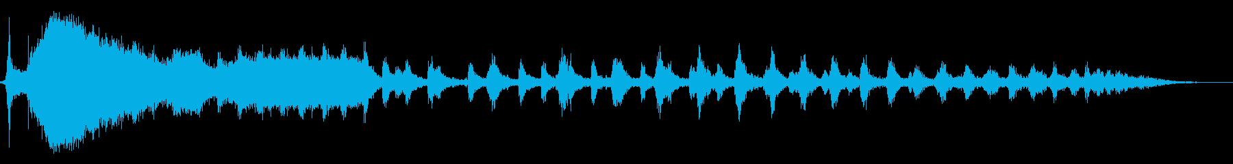 発車する蒸気機関車の再生済みの波形
