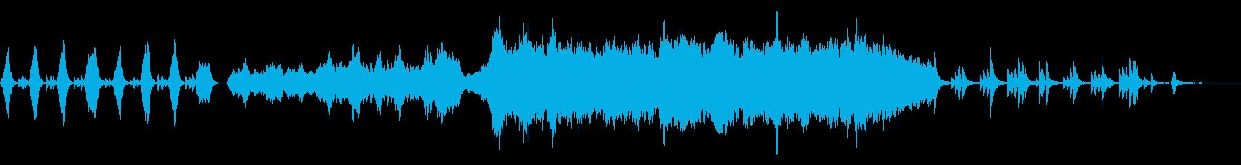 落ち着いた雰囲気の感動的なPV映像BGMの再生済みの波形