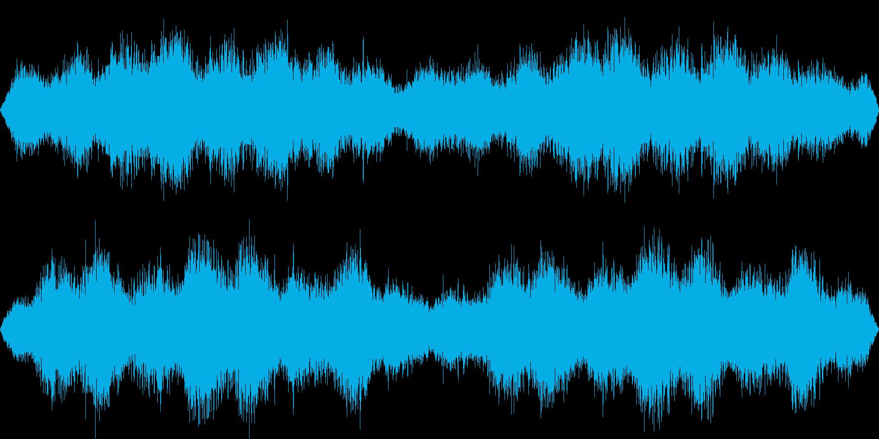 乱気流・ワームホールに吸い込まれる音の再生済みの波形