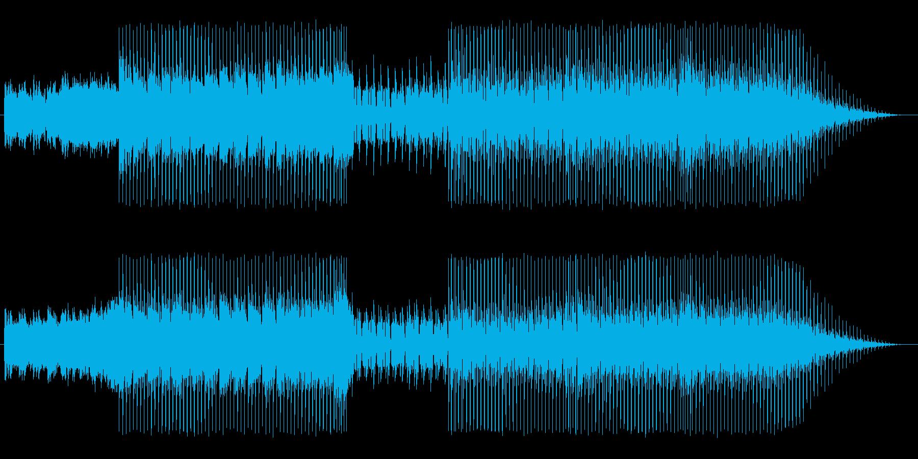 大空を高速飛行してるイメージの曲の再生済みの波形