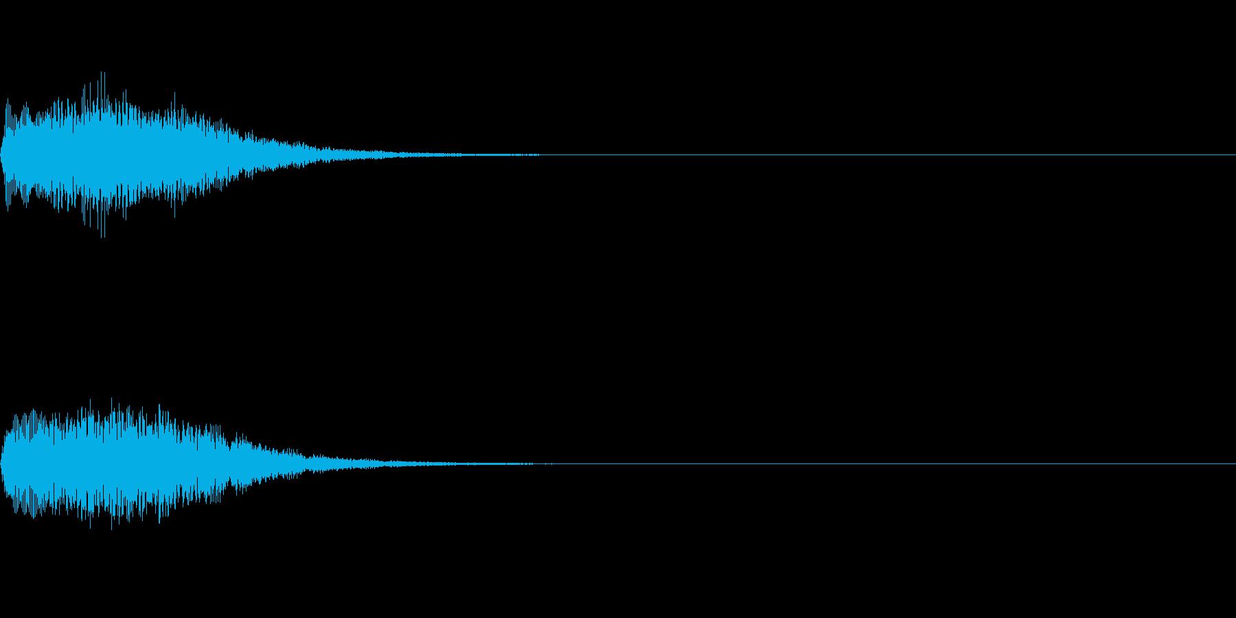 ピロリロン ゲームアプリ起動音スタート音の再生済みの波形