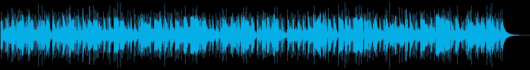 梅雨時の天気予報にぴったりのジャズBGMの再生済みの波形