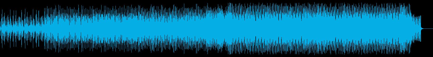 メロディアスなシンセフレーズのハウス曲の再生済みの波形