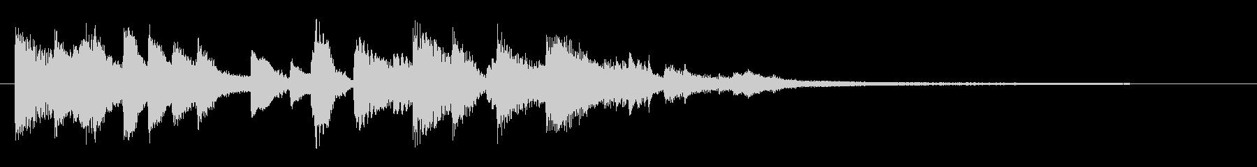 ジャズティスト、エレガントピアノジングルの未再生の波形