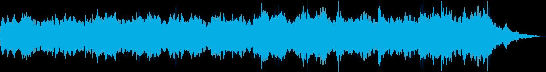 アンビエントな音楽の再生済みの波形
