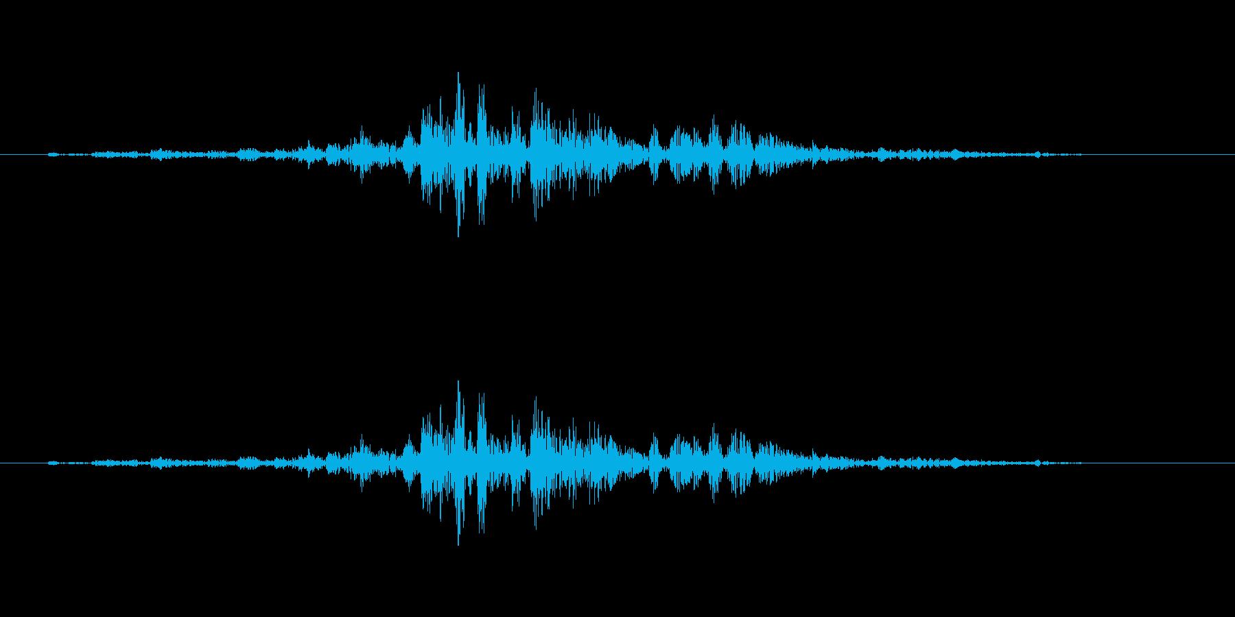 ブクブク(水の中、泡の音)の再生済みの波形