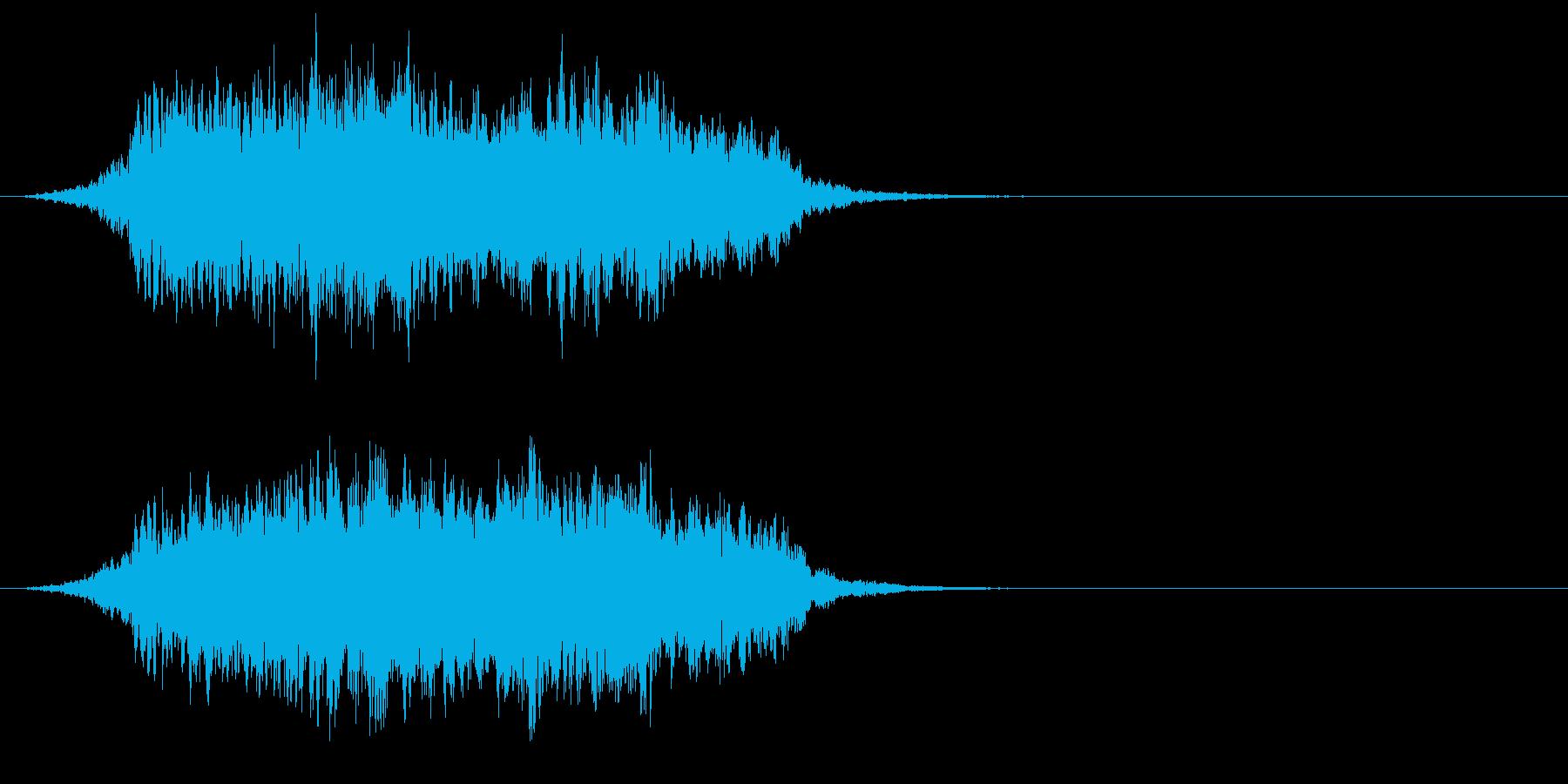 ホラーやファンタジー系 コーラス あーの再生済みの波形