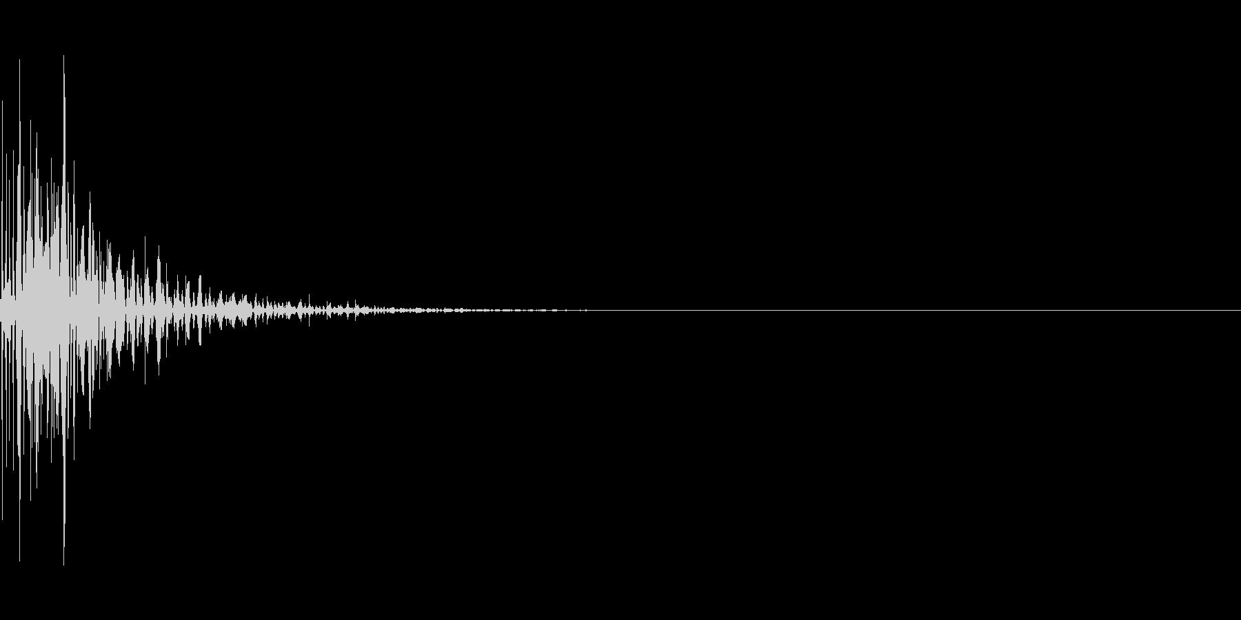 古いゲームでライフを失うときの音の未再生の波形