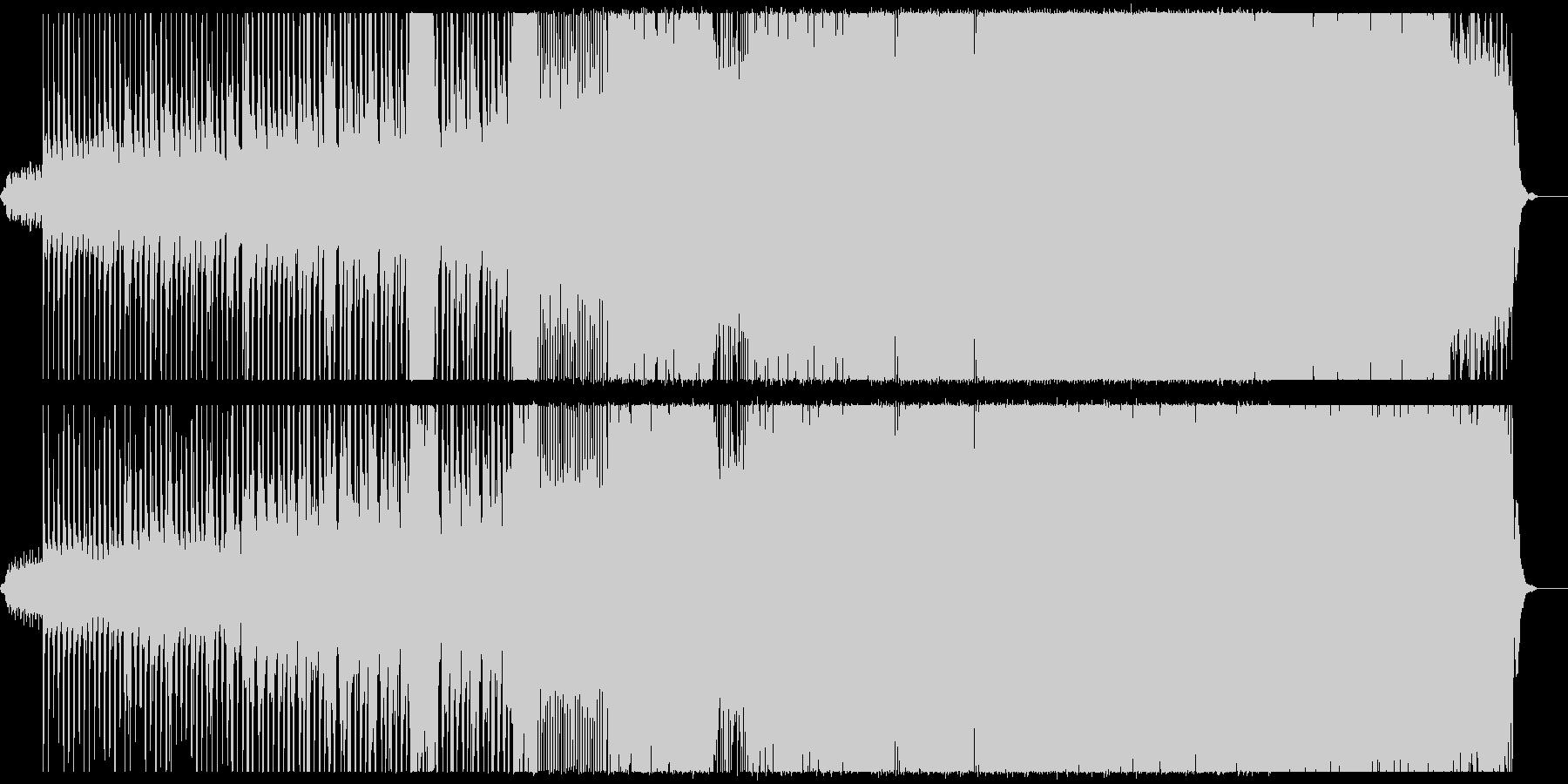 段階的に曲調が変化するインスト曲の未再生の波形