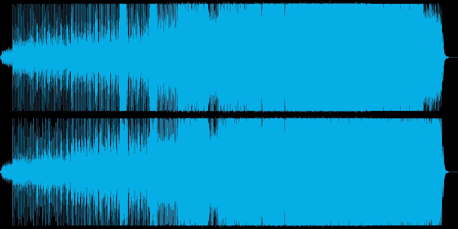段階的に曲調が変化するインスト曲の再生済みの波形