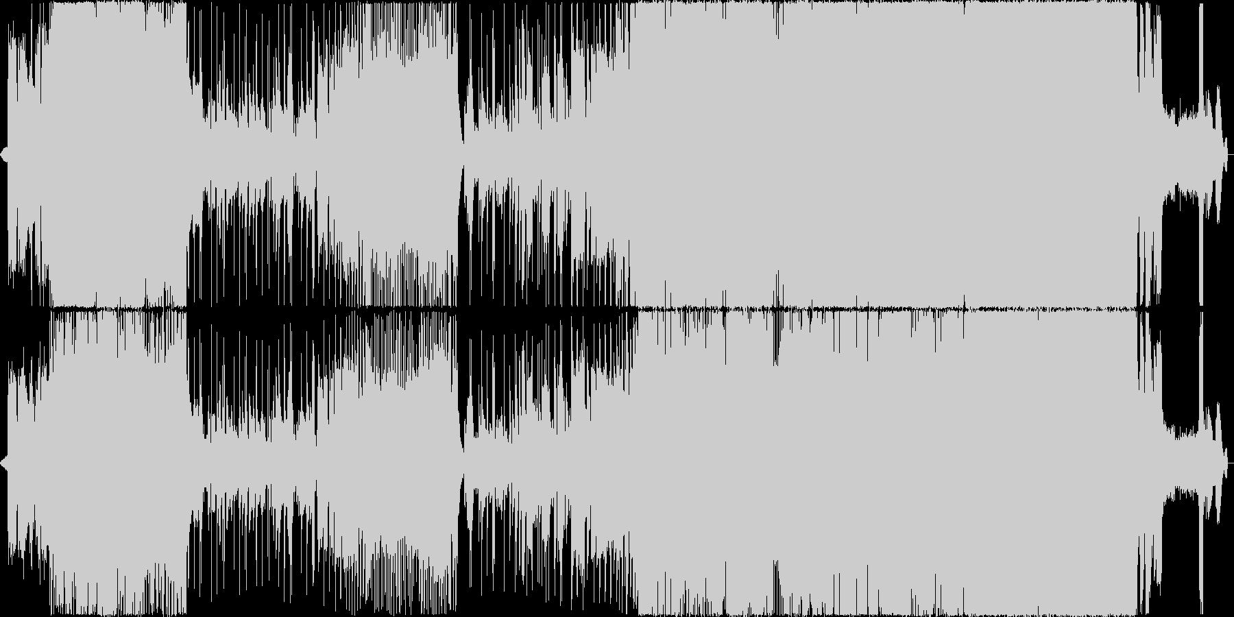 クールなコード進行、疾走感があるロックの未再生の波形