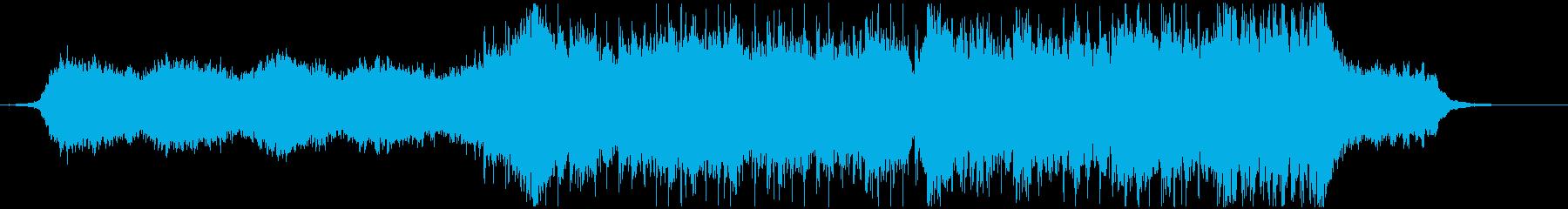 荘厳なクワイアのトレイラー風BGMの再生済みの波形