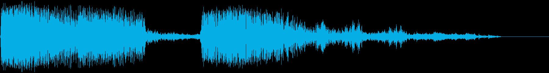 アルマゲドン爆発とデブリの再生済みの波形