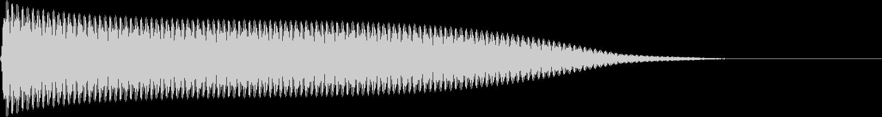 選択音 決定音 シンプル A03の未再生の波形
