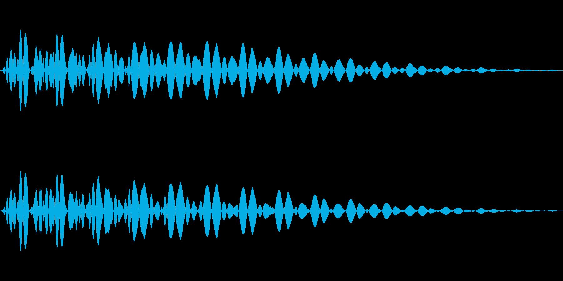 PureTouch アプリ用タッチ音61の再生済みの波形