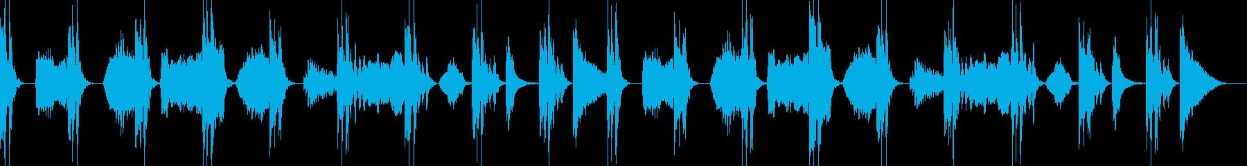 緊迫感や、怪しさのある曲の再生済みの波形