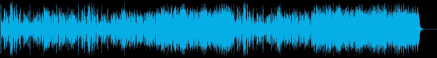 お洒落で軽やかなテンポのミュージックの再生済みの波形