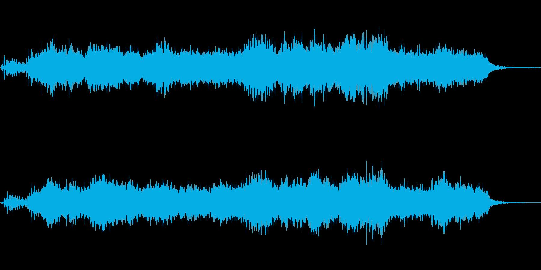 オーボエとシンセのニューエイジ風ジングルの再生済みの波形