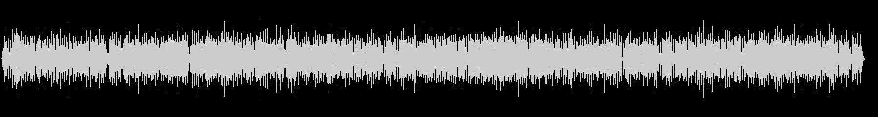 クラリネットの明るく陽気なBGMの未再生の波形