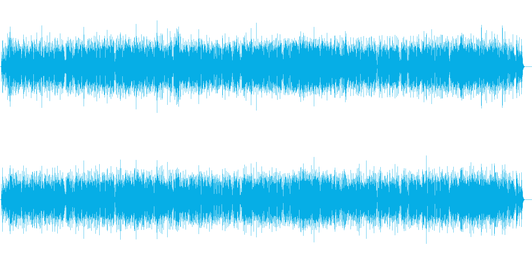 クラリネットの明るく陽気なBGMの再生済みの波形
