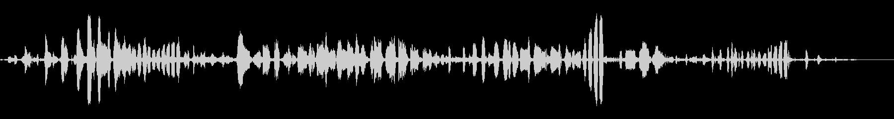笑うカモメの未再生の波形