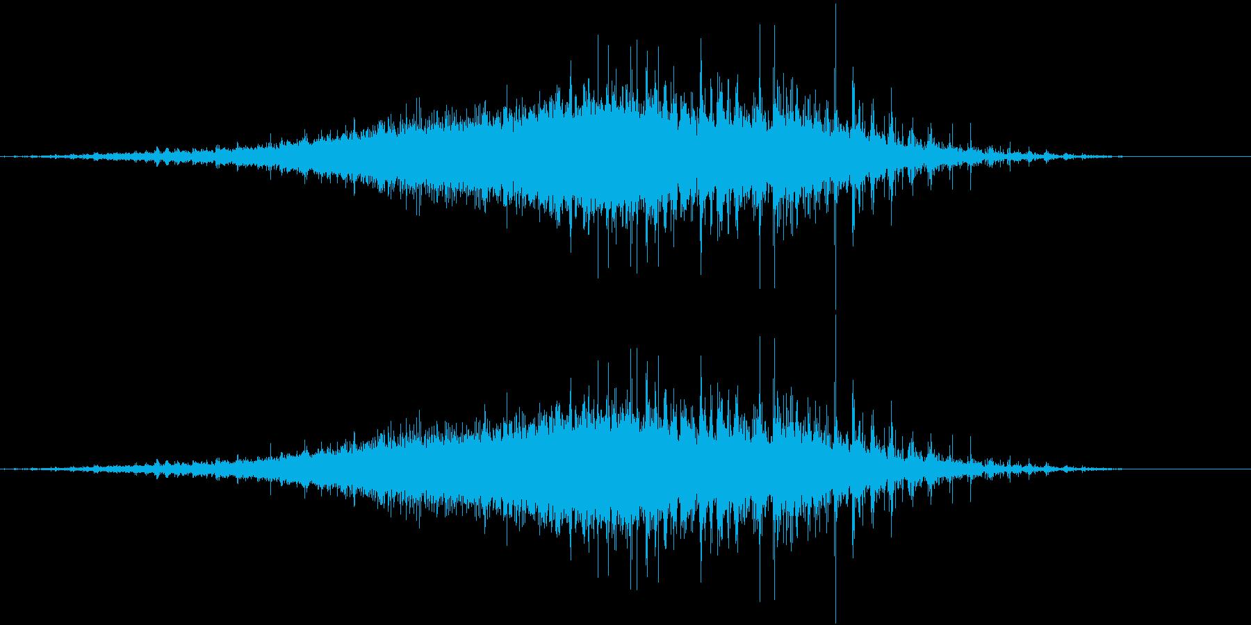 音侍SE「シャラシャラ」数珠を擦った音の再生済みの波形