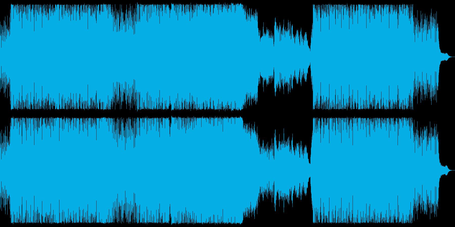 FM風音源のシューティング曲の再生済みの波形