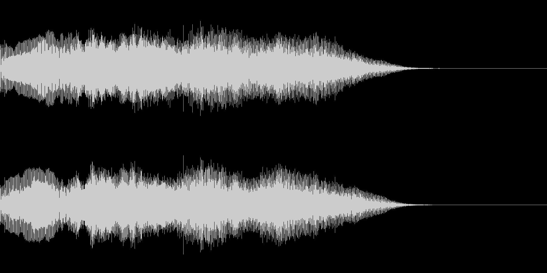 オーガニックなオープニングサウンドロゴ2の未再生の波形