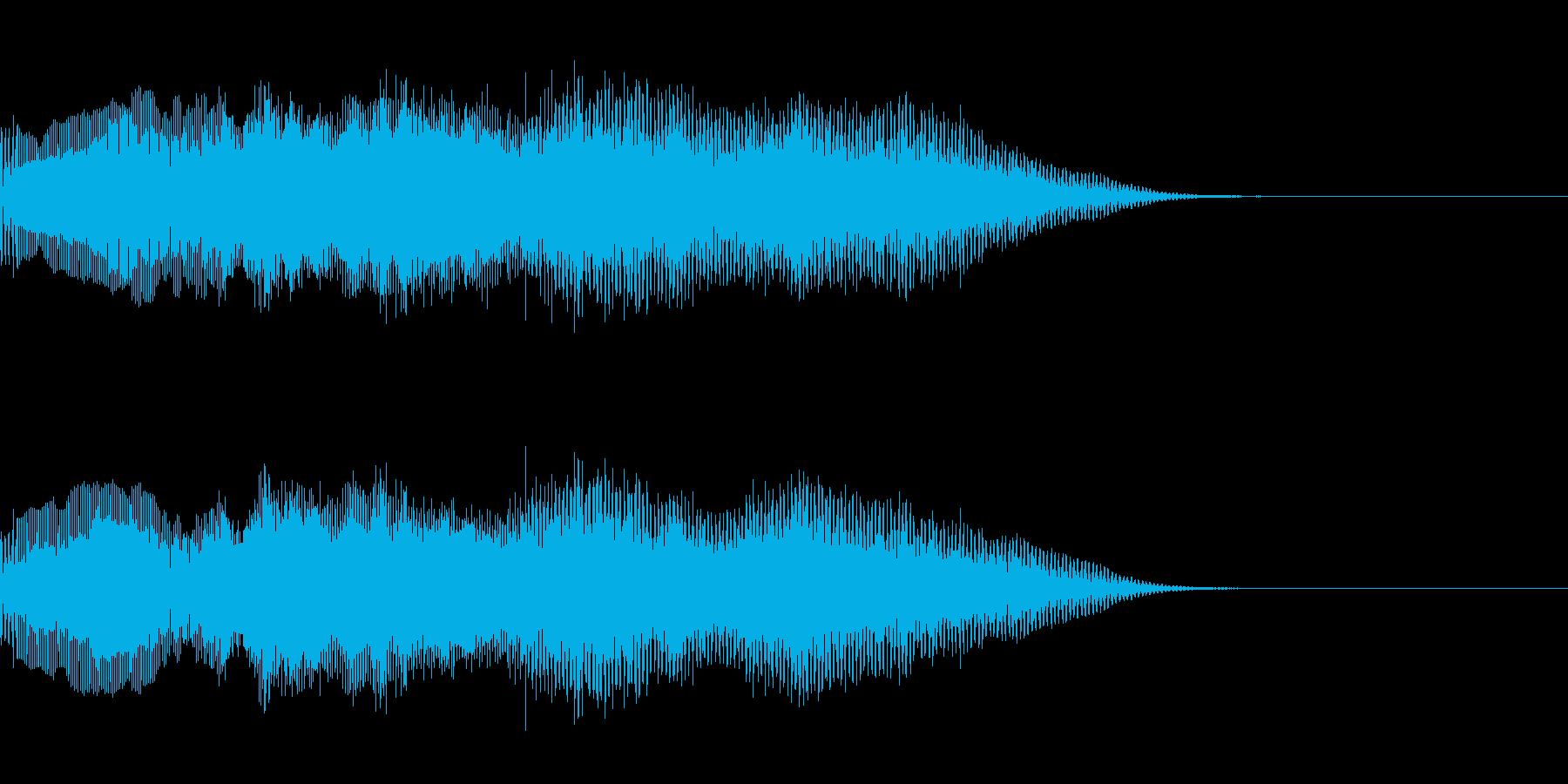 オーガニックなオープニングサウンドロゴ2の再生済みの波形