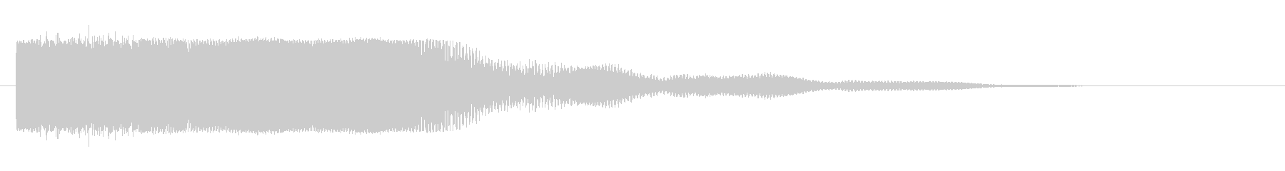 ロングテール付きメタリックインパク...の未再生の波形