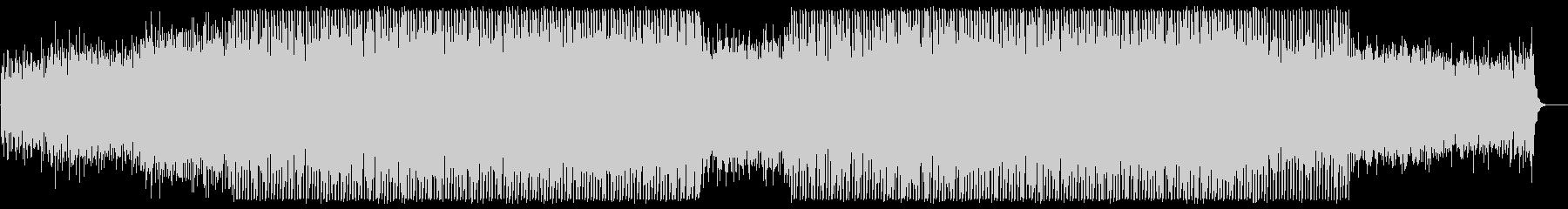 和やかなミディアムテンポのテクノポップの未再生の波形