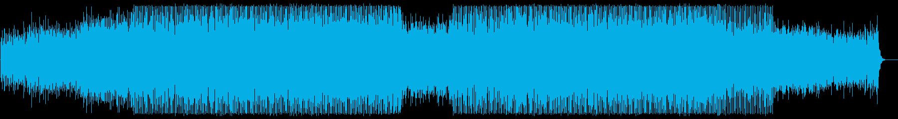 和やかなミディアムテンポのテクノポップの再生済みの波形