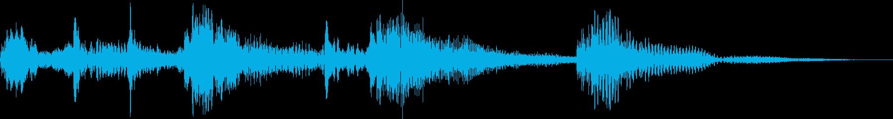 休憩時・画面転換の再生済みの波形