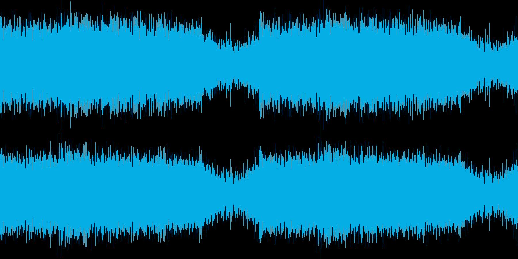 ヘヴィなサウンドとシンセで近未来な曲の再生済みの波形