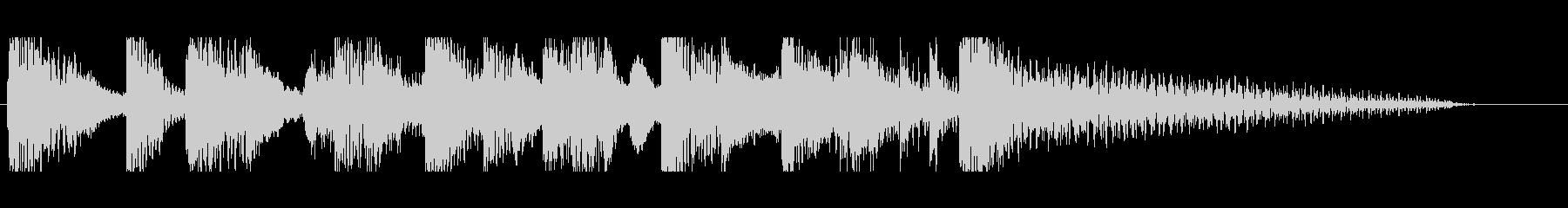 ステージクリア クールなイメージの未再生の波形